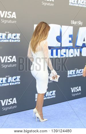 LOS ANGELES - JUL 17:  Jennifer Lopez at the 'Ice Age: Collision Course' at the 20th Century Fox Lot on July 17, 2016 in Los Angeles, CA