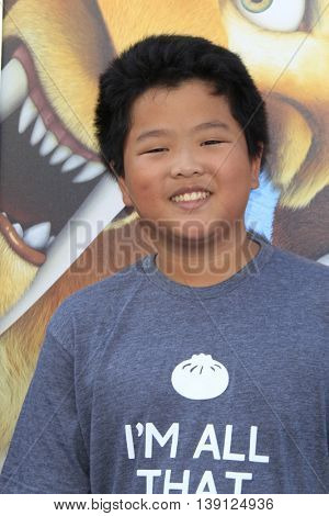 LOS ANGELES - JUL 17:  Hudson Yang at the 'Ice Age: Collision Course' at the 20th Century Fox Lot on July 17, 2016 in Los Angeles, CA