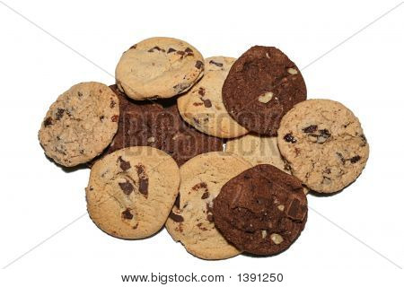 Looking Down At A Plate Of Assorted Cookies