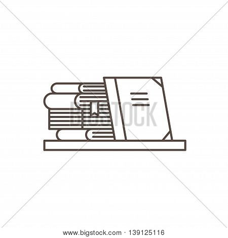 Books Icon in line style. Education concept.