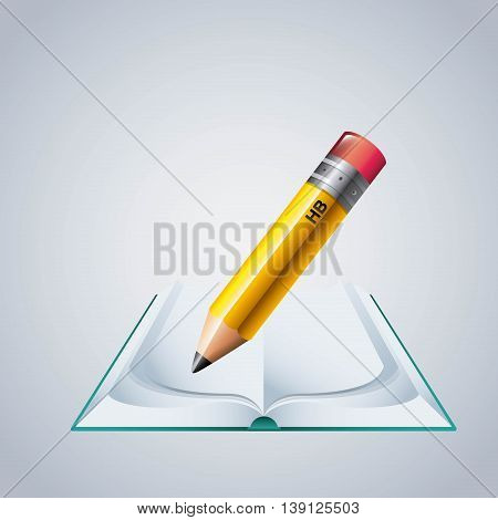 Instrument concept represented by pencil icon. Colorfull and flat illustration.