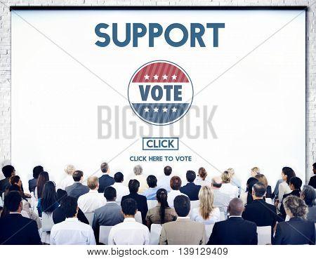 Support Collaboration Assistance Vote Election Concept