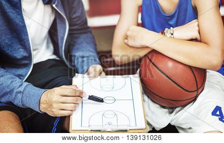 Basketball Coaching  Tactic Trainer Team Player Concept