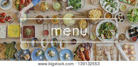 Menu Choice option Restaurant Selection List Concept
