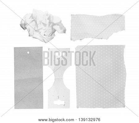 Torn Paper. Isolated on white background. with clipping path.