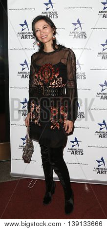 NEW YORK-OCT 19: Wendi Deng Murdoch attends the 2015 National Arts Awards at Cipriani 42nd Street on October 19, 2015 in New York City.