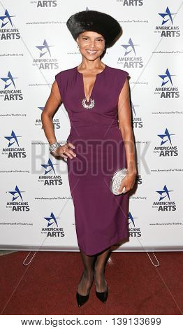 NEW YORK-OCT 19: Actress Victoria Rowell attends the 2015 National Arts Awards at Cipriani 42nd Street on October 19, 2015 in New York City.