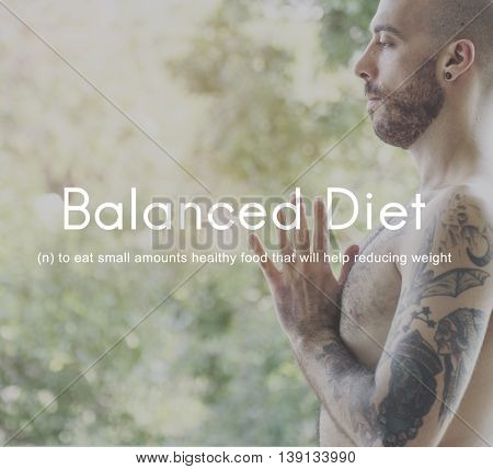 Balanced Diet Choice Eating Healthy Nutrition Concept