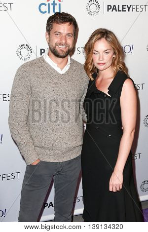 NEW YORK-OCT 12: Joshua Jackson (L) and Ruth Wilson attend 'The Affair' screening at PaleyFest New York 2015 at The Paley Center for Media on October 12, 2015 in New York City.