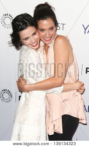 NEW YORK-OCT 12: Julia Goldani Telles (L) and Sarah Treem attend 'The Affair' screening at PaleyFest New York 2015 at The Paley Center for Media on October 12, 2015 in New York City.