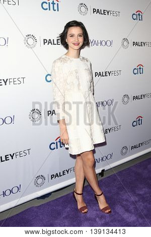 NEW YORK-OCT 12: Julia Goldani Telles attends 'The Affair' screening at PaleyFest New York 2015 at The Paley Center for Media on October 12, 2015 in New York City.
