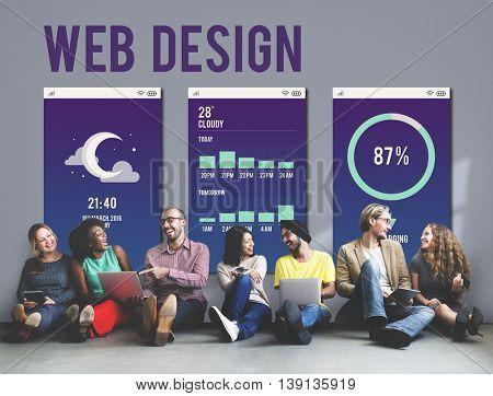 Web Design Mobile Interface Layout Concept
