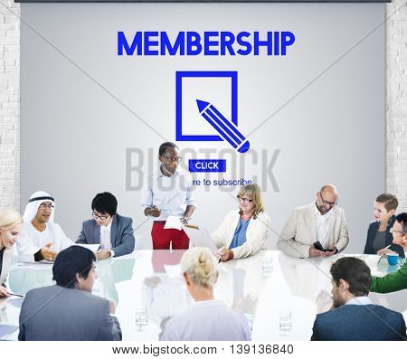 Membership Accept Join us Support Concept