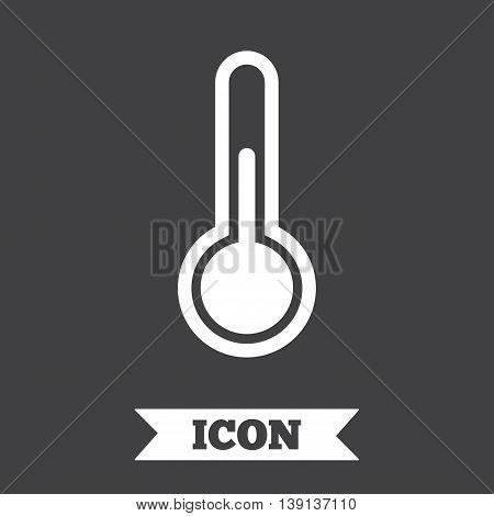 Thermometer sign icon. Temperature symbol. Graphic design element. Flat taxi symbol on dark background. Vector