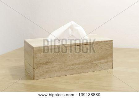 Tissue Paper In Wooden Box