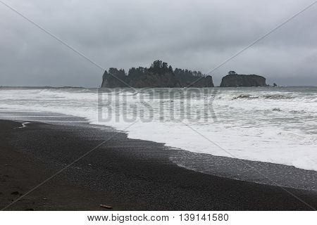 Rialto Beach Washington at the Olympic National Park