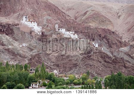 Basgo Buddhist Monastery Leh - Ladakh Jammu and Kashmir India.