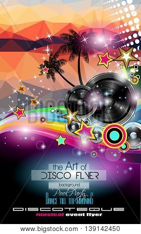 Club Disco Flyer template with Music Elements and Colorful Scalable backgrounds. A lot of diffente style flyer for your techno, latin or metal  music event Posters and advertising printed material.