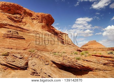 Wild Utah rock and sand desert landscape, USA