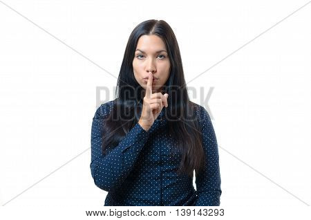 Pretty Woman Making A Shushing Gesture