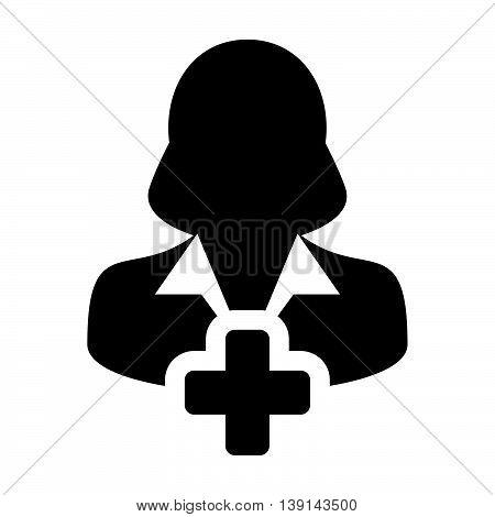 Add User Icon - Woman, Profile, Businesswoman, Avatar, Person Glyph Vector illustration