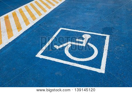 Parking for the disabled of outdoor public