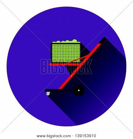 Tennis Cart Ball Icon