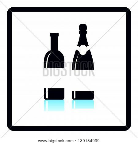 Wine And Champagne Bottles Icon
