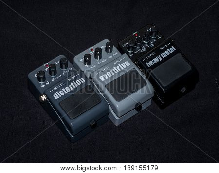 Effects Guitar Pedal Heavy Metal Overdrive and Distortion