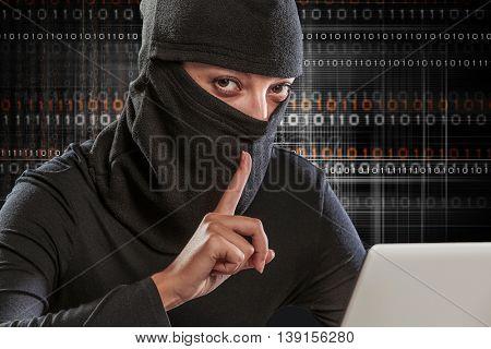Internet security concept . Mixed media