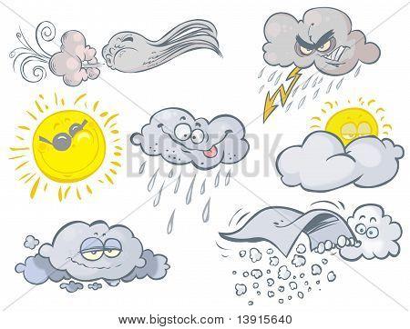 Funny weather symbols.