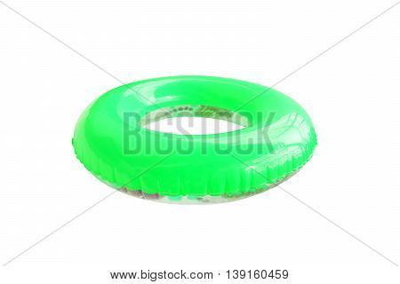 Colorful swim ring only to be used in water in which the child is within it is depth and under adult supervision.