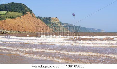 Jurassic Coast (World Heritage Site) in Sidmouth Devon