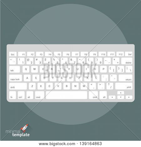 Flat design vector international keyboard icon for application interface, presentation, web design and mobile app. Concept language set up, typing, messaging, online conversation, texts an document.