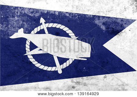 Flag Of Nantucket, Massachusetts, Usa, With A Vintage And Old Lo