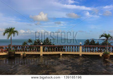 terrace overlooking the sea, Samui island, Thailand, Asia