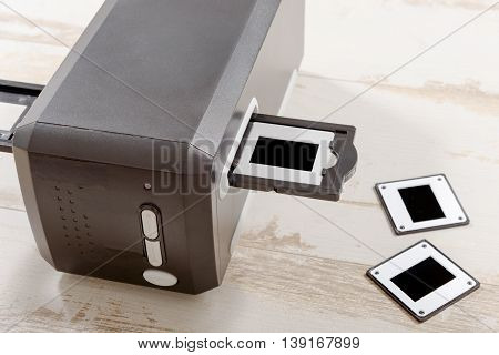 a scanner for film and slides photo