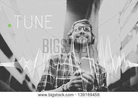 Tune Frequency Instrument Listening Music Concept