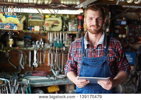Young mechanic