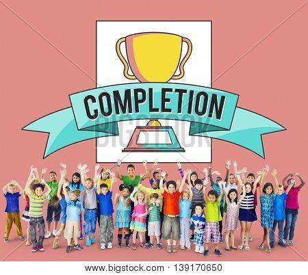 Completion Achievement Concept
