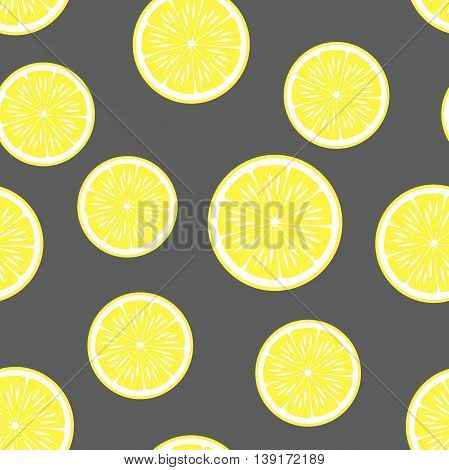 lemon background.Vector seamless pattern. Endless texture can be used for wallpaper printing on fabric paper scrap booking.