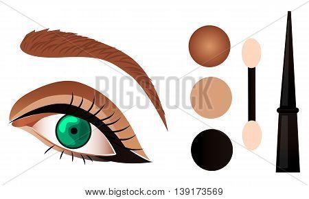 eye make up tutorial cosmetic eyeshadow eyeliner