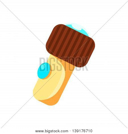 Small Plastic Lamp Flat Bright Color Primitive Drawn Vector Icon Isolated On White Background