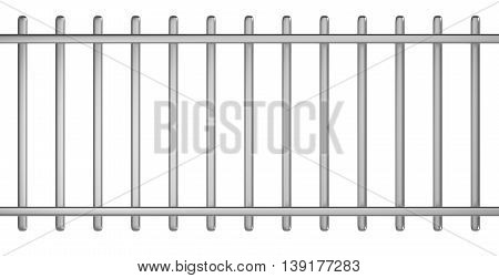 Metal Barrier Stencil 3D Illustration on White Background