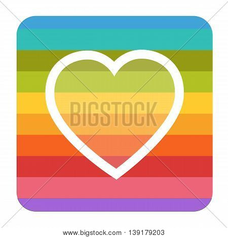 rainbow heart symbol icon pride isolated object