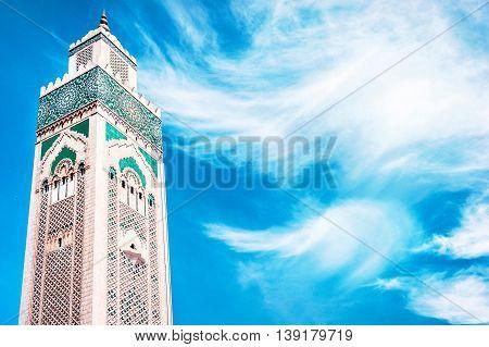 Hassan II Mosque in Casablanca Morocco. Religion concept