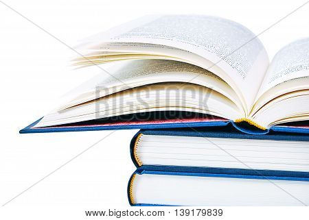 Open book isolated on white. Education and school concept