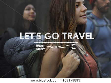 Let's Go Travel Adventure Traveling Exploration Journey Concept