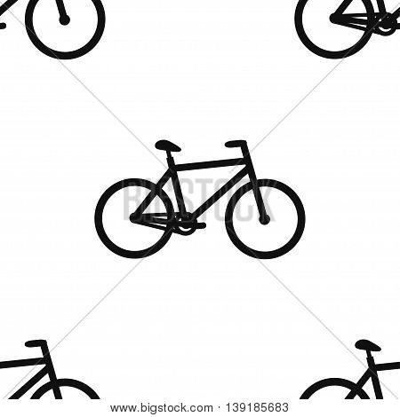 Seamless pattern for wrapping food products. Bike. Vector illustration