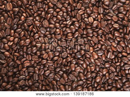 Coffee Beans A Background Close Up Photo